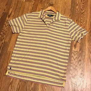 Retro Polo by Ralph Lauren Yellow Striped Shirt